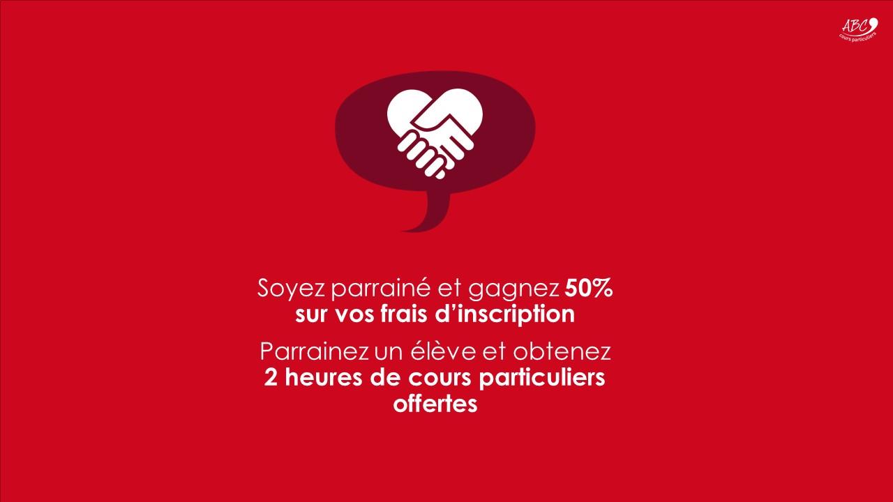 Offre Parrainage - ABC Cours Particuliers
